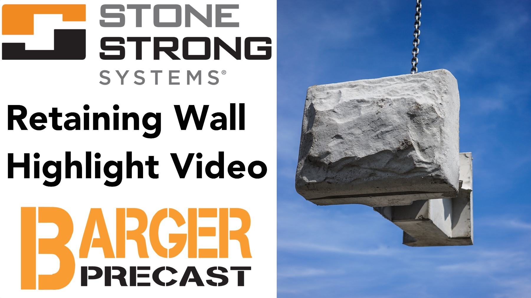 Stone Strong Retaining Wall Highlight Video